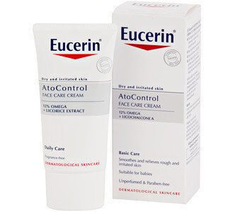 Eucerin AtopiControl face cream крем для лица с омега маслами 50мл