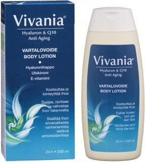 Vivania Hyaluron & Q10 Anti Aging Body Lotion 200 мл